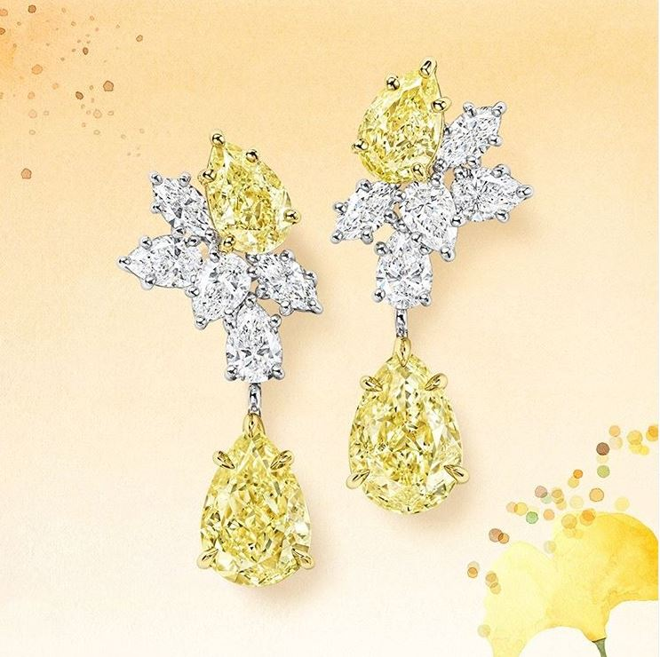 earrings yellow diamond harry winston