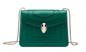 bulgari green cross-body bag