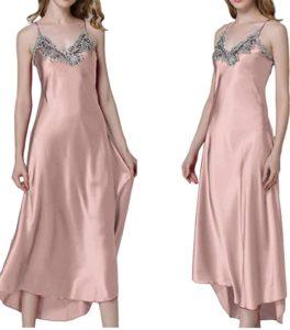 Pink Satin Nightgown Sleepwear