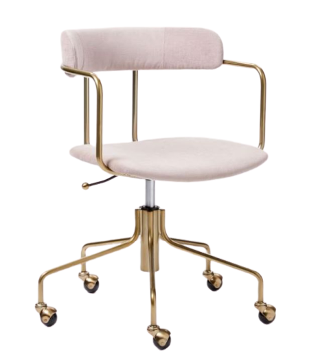 blush pink office chair bronze west elm