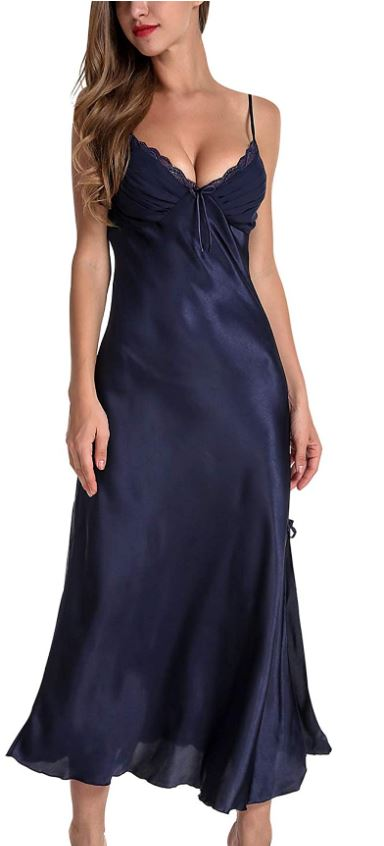 Asher Satin Blue Nightgown