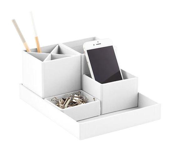 desk organizer white office