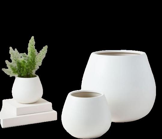 white office desk planter