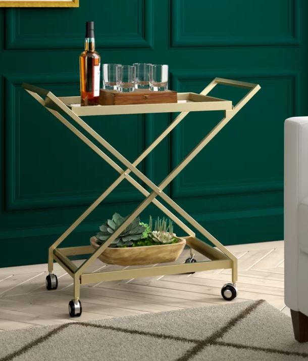 bar cart drinks server