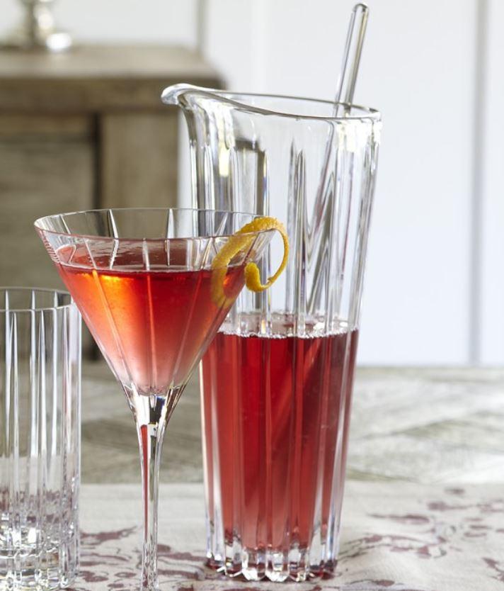 williams sonoma martini mixer glass