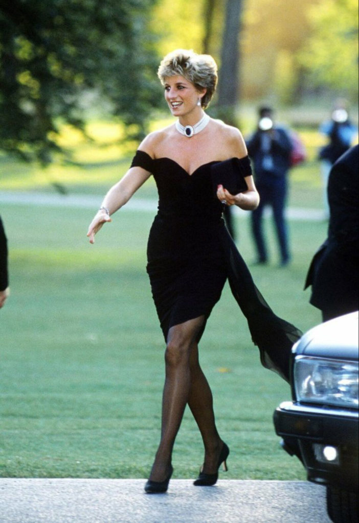 princess diana emerald necklace black dress
