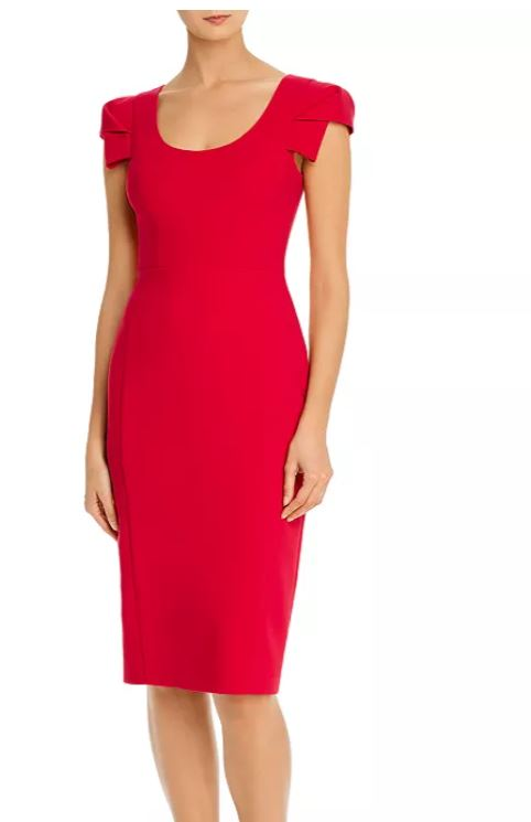 red dress dinner outfit