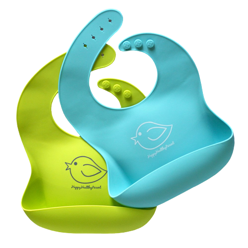 Silicone Baby Bibs Easily Wipe Clean - Comfortable Soft Waterproof Bib Keeps Stains Off