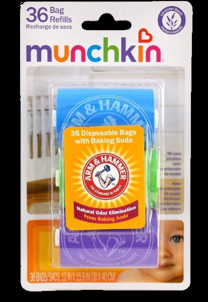 Arm & Hammer by Munchkin Bag Dispenser Refill, 36 ea