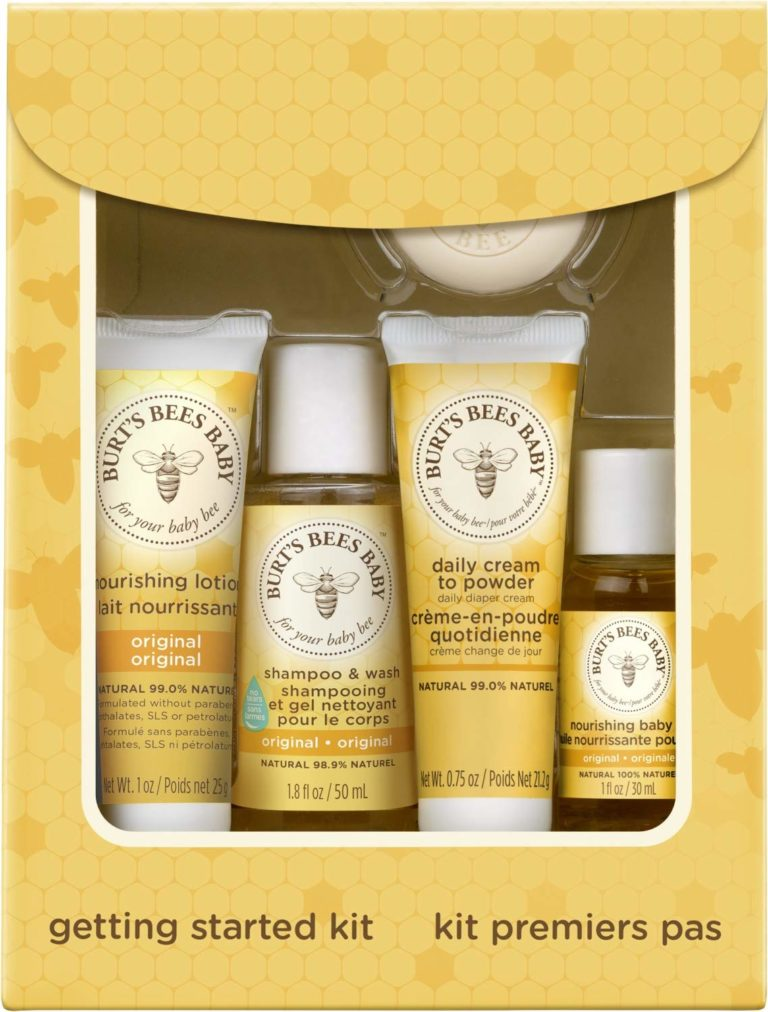 5 Trial Size Baby Skin Care Products - Lotion, Shampoo & Wash, Daily Cream-to-Powder, Baby Oil and Soap