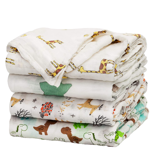 Baby Swaddle Blanket Upsimples Unisex Swaddle Wrap Soft Silky Bamboo Muslin Swaddle Blankets Neutral Receiving Blanket for Boys and Girls