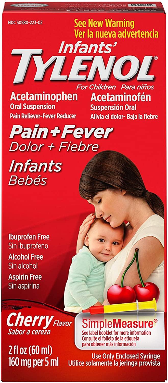 Infants' Tylenol Acetaminophen Liquid Medicine, Cherry