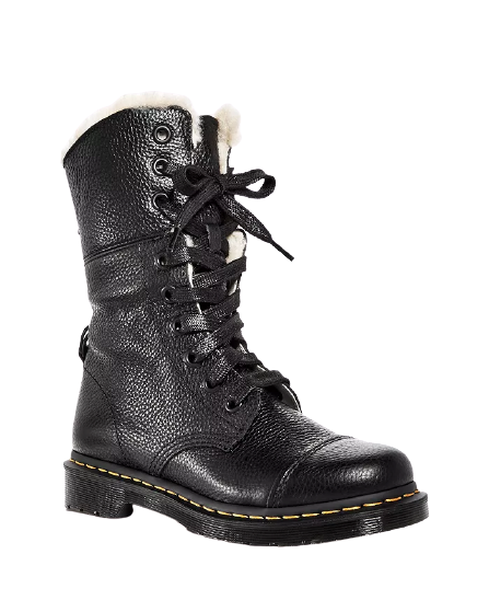 Women's Aimilita Leather Combat Boots