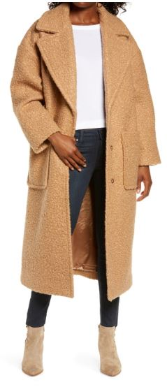 Ugg Faux Fur Coat Camel