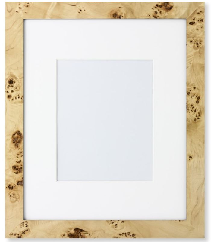 exotic burl wood picture frame