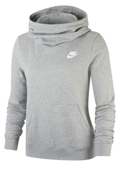 nike hooded funnelneck varsity fleece hoodie