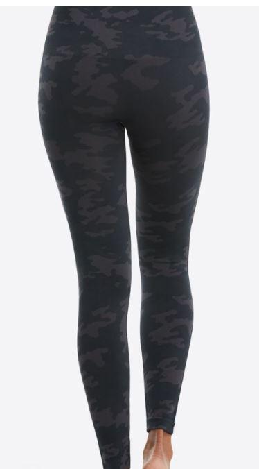 spanx black camo leggings