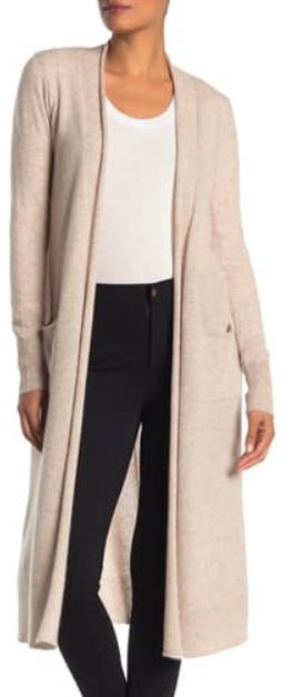 catherine malandrino cashmere sweater cardigan duster christmas gift