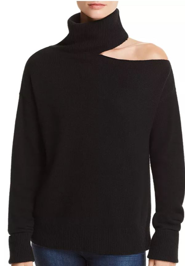 paige black cutout sweater