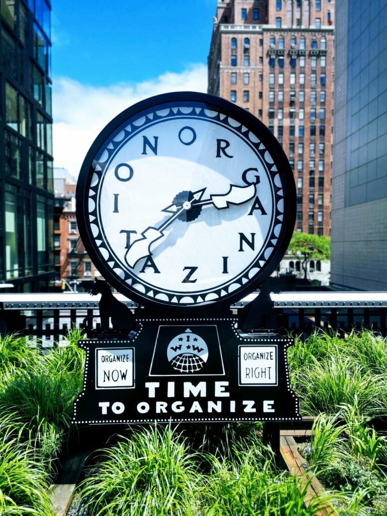 time for organation clock declutter